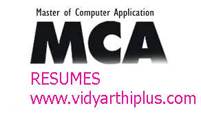 master of computer application mca resume format resume format for mca student