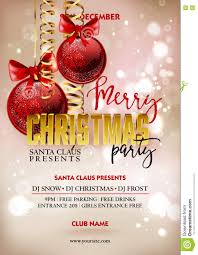 merry christmas party poster design template decoration balls merry christmas party poster design template decoration balls