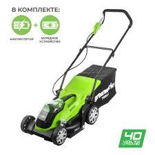 <b>Газонокосилка аккумуляторная GreenWorks</b> G40LM35K4 <b>40V</b> с ...