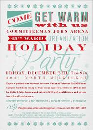 holiday party hosted by the th ward organization committeeman holiday party hosted by the 45th ward organization committeeman john arena