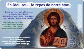 """Résultat de recherche d'images pour """"En Dieu seul, le repos de mon âme."""""""