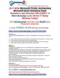 jan new exam questions and answers q for share  new 70 534 exam questions and answers 190q for share 71 80 by ruth griffith dumps issuu
