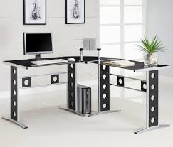 desk office home home desk new black amp silver two tone modern home office inspiring home amazoncom coaster shape home office
