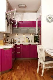 functional mini kitchens small space kitchen unit: small alcove kitchen with pink and white cabinets
