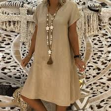 <b>Casual Solid V</b>-Neck Plus Size Dress – modychic