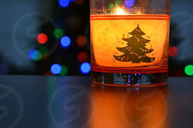 clear drinking <b>glass</b> with yellow and green <b>christmas tree print</b> by ...