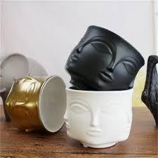 <b>2019 New Arrival</b> Human Face Ceramics <b>Plants</b> Pots Creative Home ...