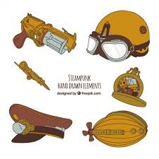Free Vector | <b>Steampunk hand drawn</b> element collection