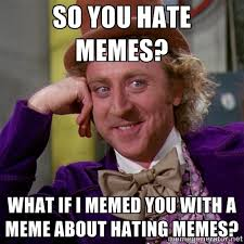 So you hate memes? What if I memed you with a meme about hating ... via Relatably.com