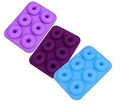 AVIRGO 6 Cavity Silicone Donut Pan Muffin Cups ... - Amazon.com