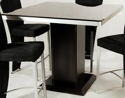 pedestal dining table black coloured