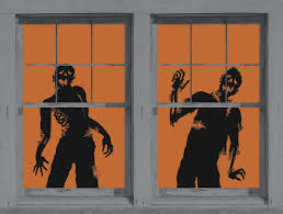 love halloween window decor: ghoulies silhouettes halloween window decoration includes two  by  feetposters orange black wowindow posters are backlit plastic window posters
