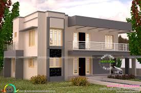 square feet flat roof house plan   Kerala home design and     square feet flat roof house plan