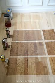 Choosing Floor Stains Top Bottom Waterborn Clear Coat Polyurethane White Oak Hardwood a