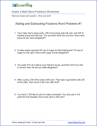 4th grade word problem worksheets - printable | K5 LearningMultiplication Word Problems -1 Grade 4 word problems worksheet