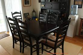 elegant square black mahogany dining table: kitchen tables and chairs cheap with dark color ideas