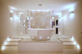 this futuristic and minimalist bathroom has one of the best lighting systems we have seen lately bathroom lighting ideas