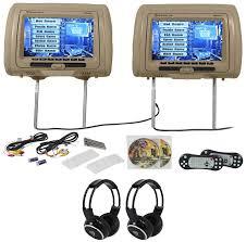 "Rockville RVD951-BG 9"" <b>Beige Dual</b> DVD/HDMI Car Headrest ..."