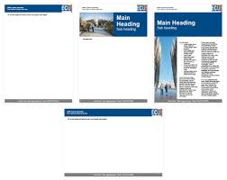 ecu intranet templates for communications our services corporate blue zip