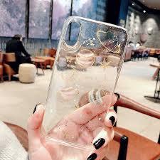 <b>Luxury Glitter</b> Cute <b>Space</b> Planet Phone Case For iPhone X XR XS ...