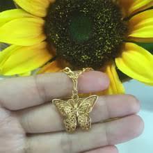 Ожерелье-<b>бабочка</b> из нержавеющей стали, <b>Золотая подвеска</b> ...