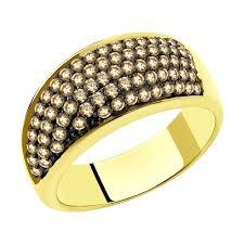 <b>Кольцо</b> из желтого золота с <b>бриллиантами</b> арт. 9019016 от ...