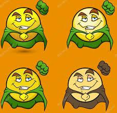 Супер <b>герой летающих</b> смайлик <b>набор</b> — Векторное ...