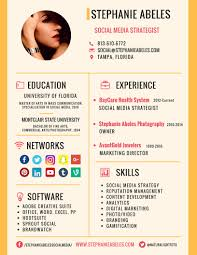 stephanie abeles social media a blog portfolio of social media stephanie abeles resume infographic