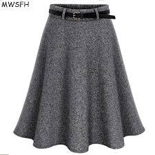 MWSFH <b>2017 Autumn</b> Winter <b>Women</b> Skirt Woolen Skirts Ladies ...