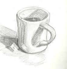 Image result for pencil drawing cup