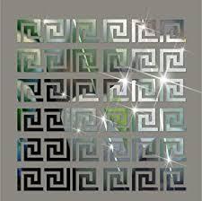 Himerus Mirror Wall <b>Stickers</b> Vintage Greek Key <b>Geometric</b> Pattern