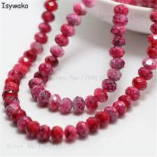 Isywaka Fashion 4x6mm 50pcs Rondelle <b>Austria faceted Crystal</b> ...