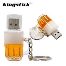 <b>Kingstick</b> Mini <b>Usb Flash</b> Drives Small Beer Cup Bottle Pendrive Usb ...