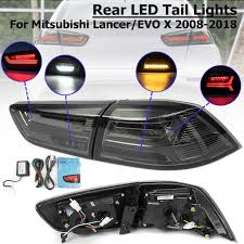 <b>A Pair Rear</b> LED Tail Light W/ Turn Signal Lamp For Mitsubishi ...