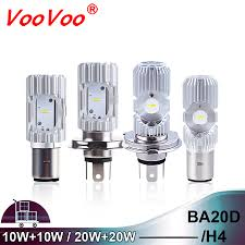 <b>1PCS H4</b> BA20D LED Motorcycle Headlight 10W/20W <b>6500K</b> ...