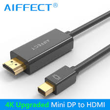 <b>AIFFECT</b> Thunderbolt to HDMI 1080P 4K 30Hz 1.8m <b>Mini DP</b> to ...
