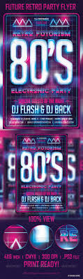 future retro party flyer template back to the 80 s fonts and future retro party flyer template photoshop psd futuristic grid available