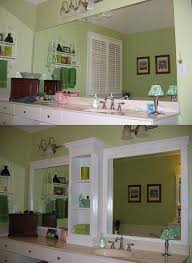 update bathroom mirror: revamp bathroom mirror before amp after and it doesnt involve cutting