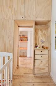plywood decor designer claire cousins well treed and deck the house with a simple plywood apartment she shared some areas thither are a great number