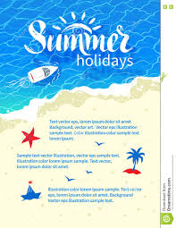 summertime vacation flyer design stock vector image  summertime vacation flyer design