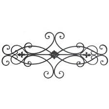 metal wall decor shop hobby: brown scroll metal wall decor with floral center shop hobby lobby pair  side by
