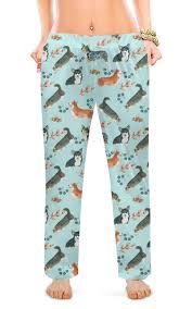 """Женские пижамные штаны """"Утро доброе если дома <b>корги</b> ..."""