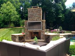 outdoor fireplace backyard patio ideas fireplace archadeck of charlotte designed and built this outdoor living space fe
