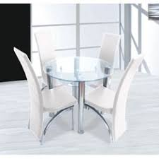 cream compact extending dining table: compact round clear glass dining set  dining cream chairs