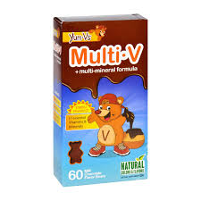 Yum V's <b>Multi</b>-<b>v</b> Plus <b>Multi</b>-<b>mineral</b> Formula Milk Chocolate - 60 Bears