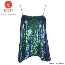 <b>HDY Haoduoyi Women</b> Glitter Mermaid Sequin Tank Tops Spaghetti ...