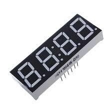 <b>4Pcs 7-Segment 0.56 Inch</b> 4 Digit 12 Pins Red LED Display - US$3.83