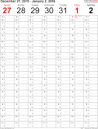 weekly calendar for pdf printable templates weekly calendar 2016 template for pdf version 8 portrait 53 pages time