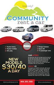 rentals community rent a car rentals flyer template