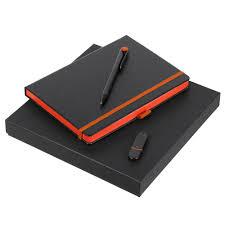 <b>Набор Black Memory</b>, <b>черно-оранжевый</b> с логотипом - купить в ...